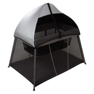 In & Out Travel Cot - Black Silver