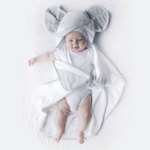 Petit Elephant Novelty Hooded Bath Towel