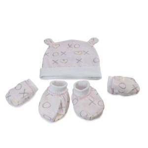 Pink Bloom Bamboo 3pcs Newborn Layette Gift Set