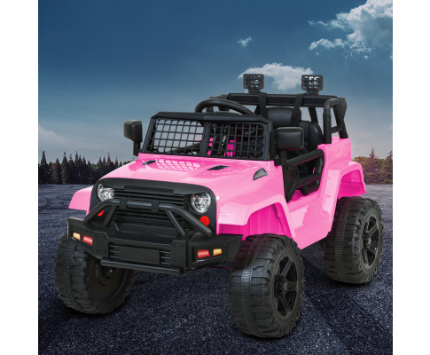Rigo Kids Ride On Car Electric 12V Car Toys Jeep Battery Remote Control-Pink