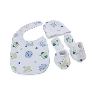 Boy Baby Owl 4 Piece Newborn Layette Set