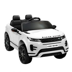 Kids Ride On Car Licensed Land Rover 12V Electric Battery Remote White